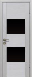 Profil Doors 21x беленый дуб (Эш Вайт Мелинга) ст. черное